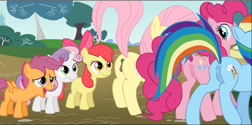 sweetie belle button mash x Sanity not included