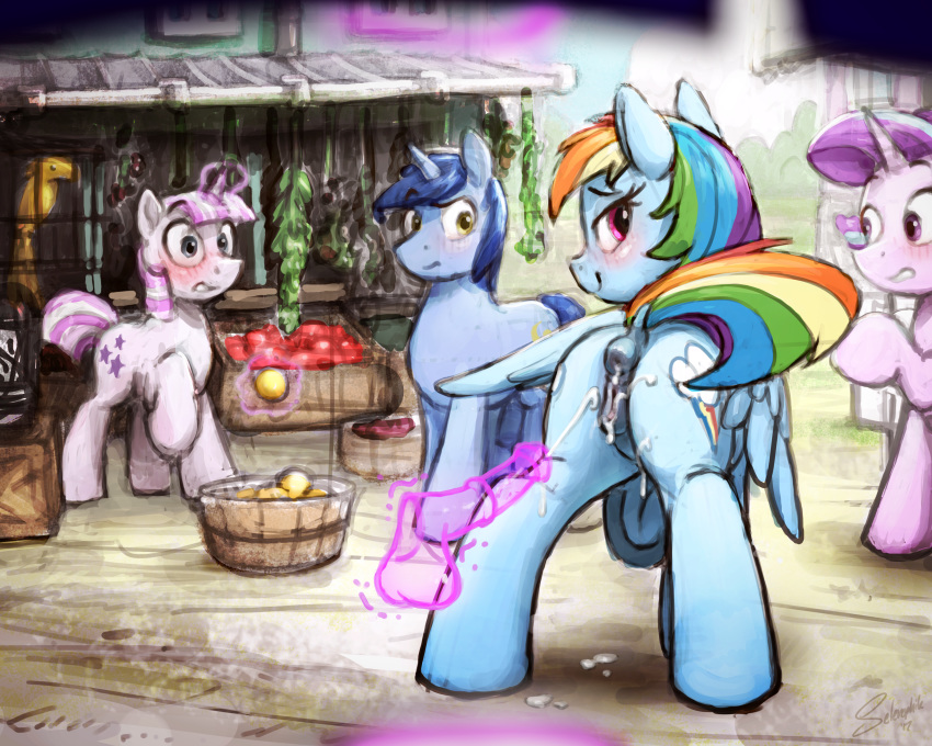 and rainbow dash dust lightning Lady (devil may cry)