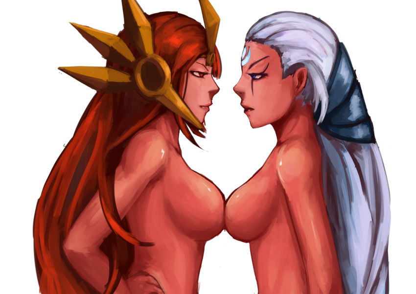 nude of league legends ahri Ffbe white lily dark fina